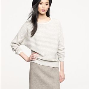 J. Crew gray wool cashmere blend sweater small